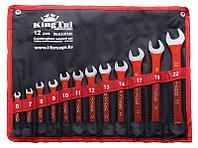 Kingtul kraft Набор ключей комбинированных 12 предметов(6-14,17,19,22мм) на полотне KingTul kraft KT-3312k