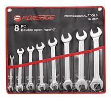 Forsage Набор ключей рожковых 8 предметов(8,10-19,21,22,24мм)на полотне Forsage F-5082P 9926