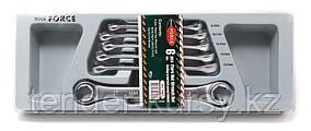ROCKFORCE Набор ключей разрезных 6 предметов(8х10,9х11,10х11,12х13,14х17,18х19мм),на полотне ROCKFORCE RF-5066