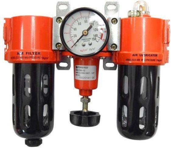 """Forsage 1/4"""" Блок подготовки воздуха mini (регулятор давления с нижним расположением+фильтр+маслодобавитель)"""
