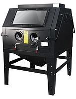 ROCKFORCE Пескоструйная камера с электродвигателем для очистки воздуха (1200л, 220В, 3.4-6.1атм) пневмо