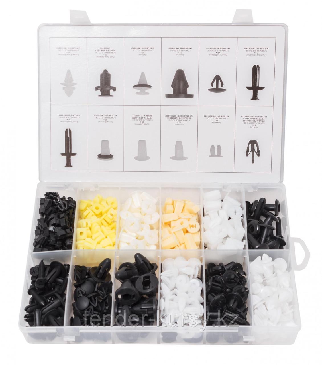 Forsage Набор клипс 370 предметов (MITSUBSHI), пластиковом органайзере Forsage F-01Z0228 5006