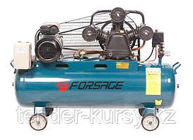 Forsage Компрессор 100л 3-х поршневой с ременным приводом  (3.0кВт, ресивер 100л, 360л/м, 380В) Forsage