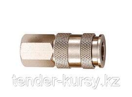"""M7 Быстроразъем пневматический с клапаном и внутренней резьбой 1/4"""" M7 SY-210F 5426"""