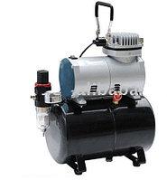 Rotake Миникомпрессор безмасляный (ресивер 3л, производительность 23л/мин, рабочее давление 3-4bar)+переходник