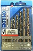 Krino Набор сверл по металлу из быстрорежущей стали HSS+CO 1-10мм 10 предметов Krino 1155201 9201