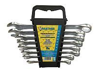 Partner Набор ключей комбинированных, 8 предметов(8, 10, 12, 13, 14, 15, 17, 19мм), в пластиковом держателе