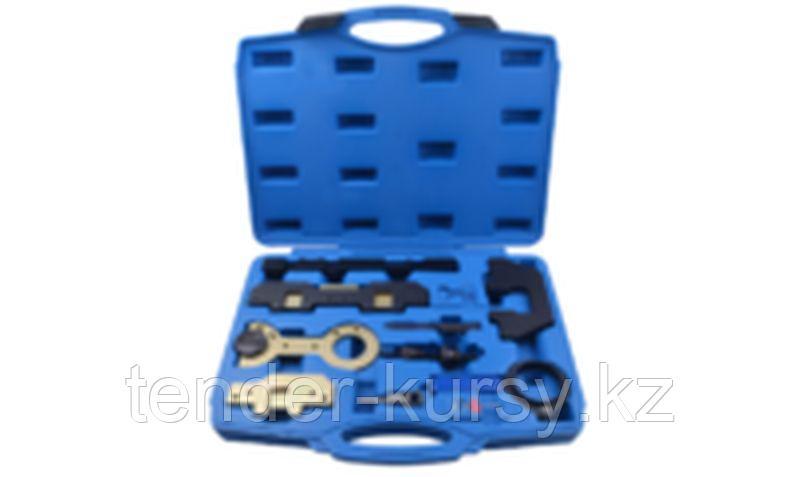 ROCKFORCE Набор фиксаторов для обслуживания двигателей BMW(М40,43,42,44,50,52,54,56) 11 предметов, в кейсе