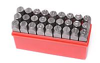 ROCKFORCE Набор штампов буквенных 4мм, 27 предметов, в пластиковом футляре ROCKFORCE RF-02704 16383