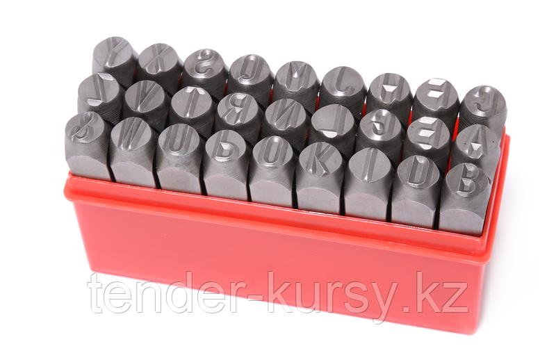 ROCKFORCE Набор штампов буквенных 6мм, 27 предметов, в пластиковом футляре ROCKFORCE RF-02706 16385