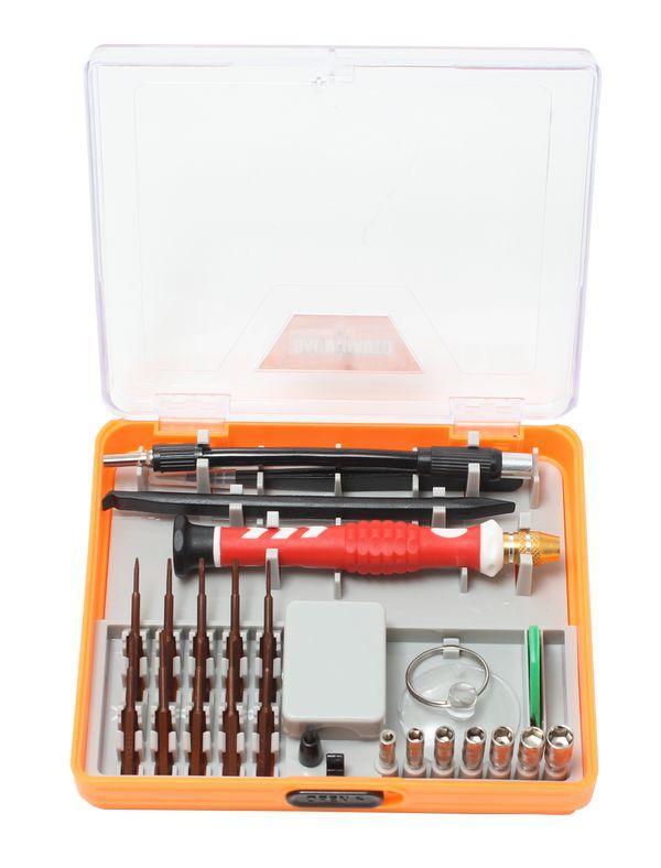BaumAuto Отвертка ювелирная, с гибким удлинителем,пинцетом, комплектом бит и головок  для точных работ (22