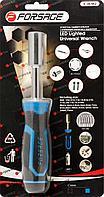 Forsage Рукоятка с подстветкой 4LED и универсальным захватом болтов и гаек (4-15мм, L-220мм), в блистере