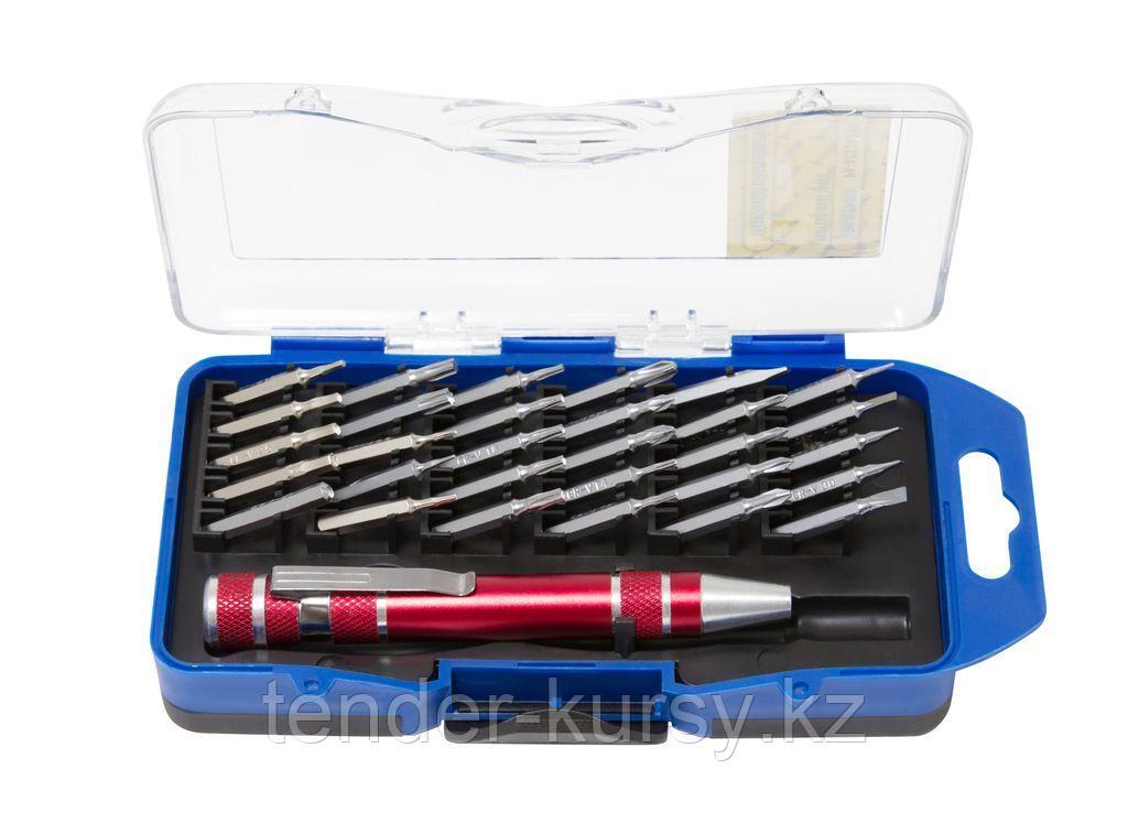 Partner Отвертка-битодержатель магнитная с комплектом бит, 31 предметв пластиковом футляре Partner PA-AX23031C