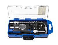 Partner Отвертка-битодержатель телескопическая с гибким удлинителем и комплектом бит, 33 предметав пластиковом