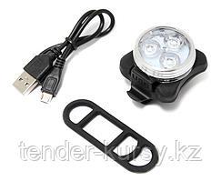 Forsage Фонарь LED передний круглый велосипедный (белый, 4 режима) Forsage HYD-018 16493