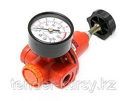 """ROCKFORCE Регулятор давления с индикатором 1/2"""" (3100л/мин, 5-60°C, max входное/выходное давление: 15/10bar)"""