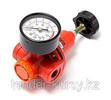 """ROCKFORCE Регулятор давления с индикатором 1/4"""" (2200л/мин, 5-60°C, max входное/выходное давление: 15/10bar)"""