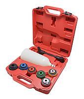 Forsage Воронка для заливки масла в двигатель а/м с пластиковыми адаптерами, 8 предметов, в кейсе Forsage