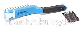 Forsage Щетка по металлу ручная в пластиковом корпусе с прорезиненной рукояткой (металлический скребок-70мм,