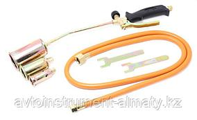 Forsage Горелка газовая с насадками и гибким шлангом (насадки-25,35,50мм; L-390мм;L шланга-1.5м) на блистере