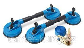 Forsage Набор съемников стекол 60кг. 3 предмета (стеклодомкрат двухзажимной плавающий - 2шт, стяжка груза с