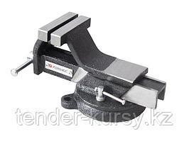 """Forsage Тиски стальные поворотные с наковальней 4""""-100мм Forsage F-6540804 18542"""