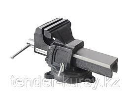 """Forsage Тиски стальные усиленные поворотные с наковальней 10""""-250мм Forsage F-6540910 18541"""