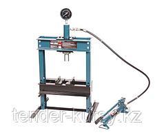 Forsage Пресс настольный гидравлический с манометром и выносным насосом 12т (раб. высота: 0-340мм, раб.
