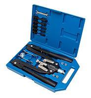 Forsage Заклепочник механический двуручный складной 3в1, 14 предметов(L-520мм, заклепки 3.2-6.4мм, резьбовые