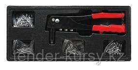 Partner Заклепочник ручной механический с комплектом заклепок (1.2, 1.4, 2, 2.4мм), в лотке Partner