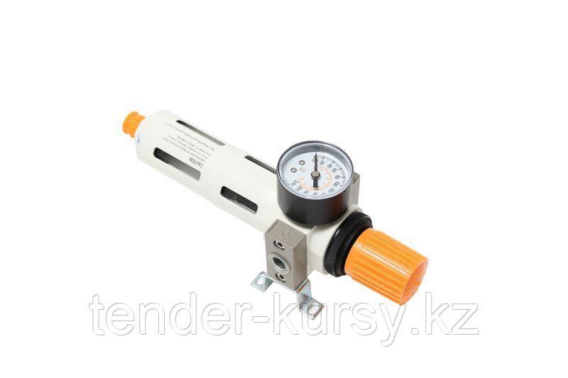 """ROCKFORCE Фильтр-регулятор с индикатором давления для пневмосистемы """"Profi"""" 1/4""""(пропускная способность:1300"""