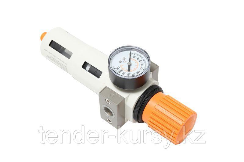 """ROCKFORCE Фильтр-регулятор с индикатором давления для пневмосистемы """"Profi"""" 3/4""""(пропускная способность:8500"""