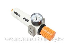 """ROCKFORCE Фильтр-регулятор с индикатором давления для пневмосистемы """"Profi"""" 3/8""""(пропускная способность:2000"""