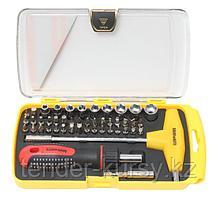 BaumAuto Шестигранник Т-образный 8мм с держателем бит и головок (52 предмета) в пластиковом футляре. BaumAuto