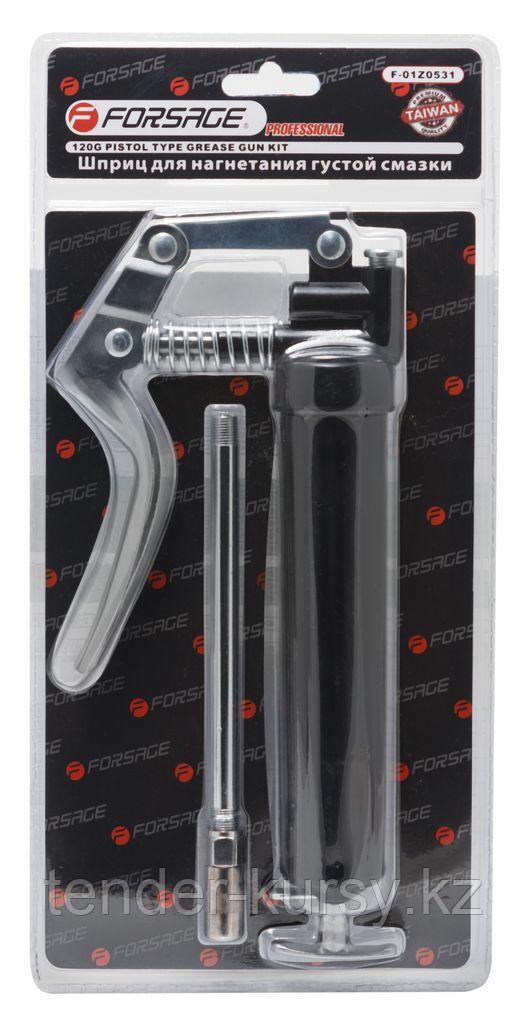 Forsage Шприц для нагнетания густой смазки с жестким наконечником 120гр., в блистере Forsage F-01Z0531 15996