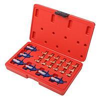 Forsage Адаптеры для тестера обратки форсунок (Common Rail) 24 предмета, в кейсе Forsage F-04A3025 15191