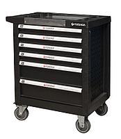 Forsage Тележка 6 полок(черная)с пластиковой защитой корпуса и металлической крышкой+2боковые