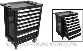 Forsage Тележка инструментальная 7-и полочная(черная) с пластиковой защитой корпуса+2боковые