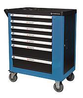 Forsage Тележка инструментальная 7-ми полочная (синяя), с дополнительной боковой секцией, 600х840х980