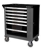 Forsage Тележка инструментальная 7-ми полочная (черная), с дополнительной боковой секцией, 600х840х980