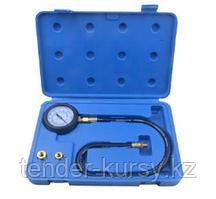 ROCKFORCE Тестер давления масла в наборе с резьбовыми адаптерами 3 предмета, (0-7bar), в кейсе ROCKFORCE