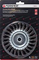 Forsage Кордщетка дисковая стальная витая для УШМ 100мм, в блистере Forsage F-BWF104 19901