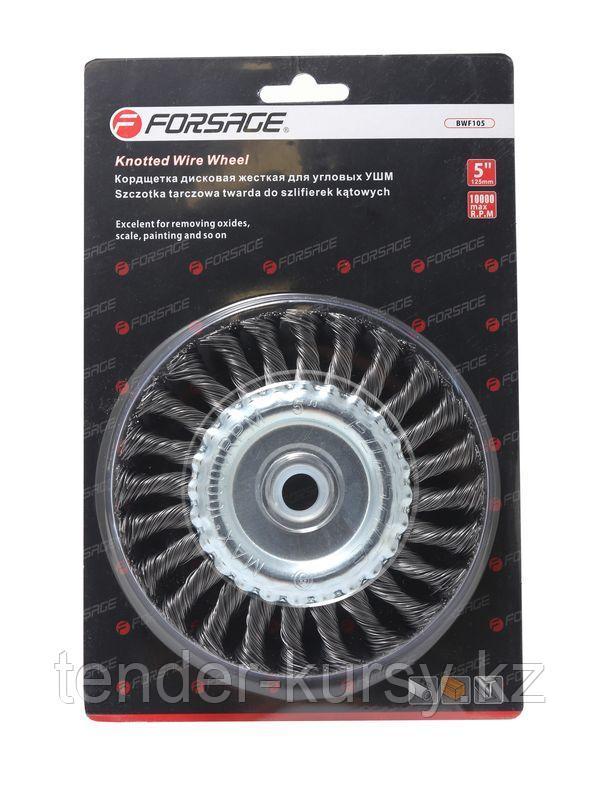 Forsage Кордщетка дисковая стальная витая для УШМ 200мм, в блистере Forsage F-BWF108 19907
