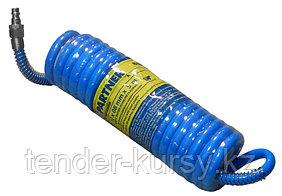 Partner Шланг витой полиуретановый 8мм х 12мм х 5м с быстроразъемами (латунь, максимальное давление - 15bar,