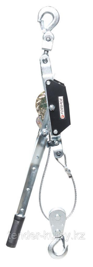 Forsage Лебедка рычажная тяговая с двойной защитой, 2т (одинарное зубч. колесо, диаметр троса-5мм, длина