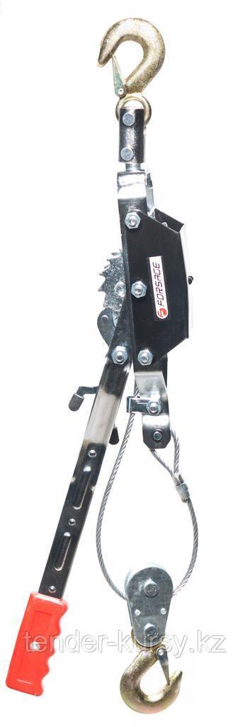Forsage Лебедка рычажная тяговая с дополнительным спусковым механизмом, 2т (двойное зубч. колесо, диаметр