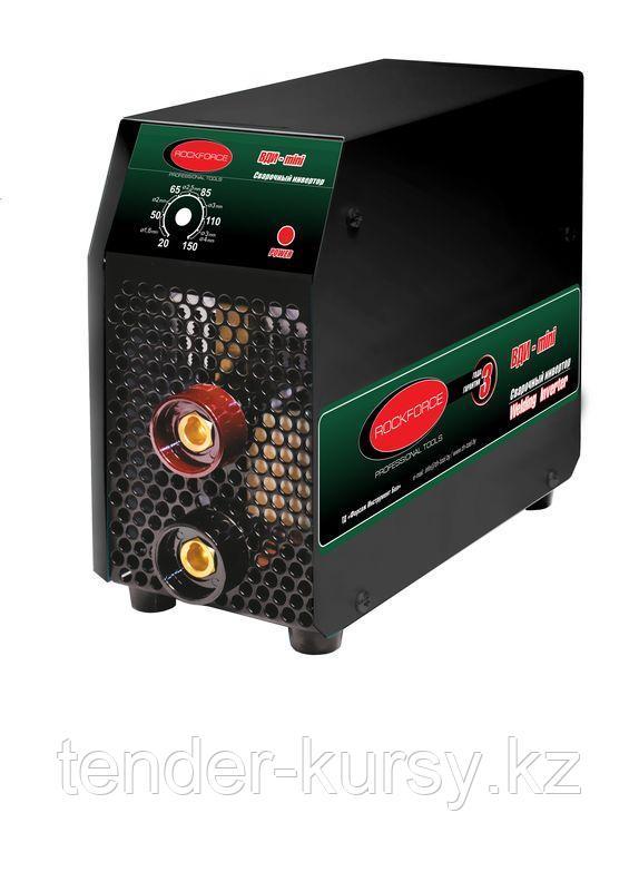 ROCKFORCE Инвертор сварочный ВДИ-mini (ММА DC, регулируемый ток 20-150А, электрод 1.6-4мм, 5.0кВт, 220В,