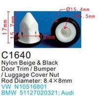 Forsage Клипса для крепления внутренней обшивки а/м GM пластиковая (100шт/уп.) Forsage клипса C0164(C164)(GM)