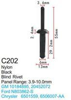 Forsage Клипса для крепления внутренней обшивки а/м GM пластиковая (100шт/уп.) Forsage клипса F-C202( GM )