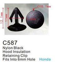 Forsage Клипса для крепления внутренней обшивки а/м Хонда пластиковая (100шт/уп.) Forsage клипса F-C587(Honda)